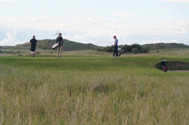 Golfers on Gullane Links