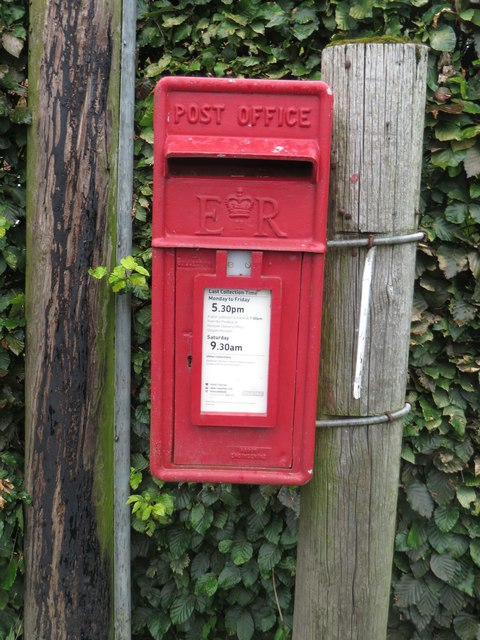 Postbox at Cockle Park