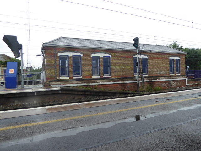 A wet day at West Drayton station