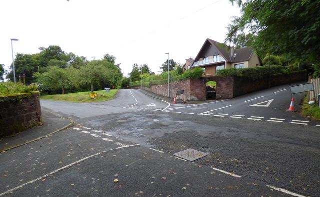 Road junction in Skelmorlie