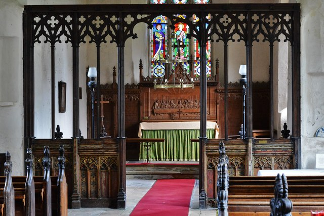 Seething, St. Margaret and St. Remigius Church: The screen, part medieval, part Victorian