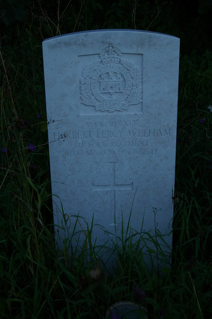 War grave, churchyard of St Mary's Church, Little Blakenham