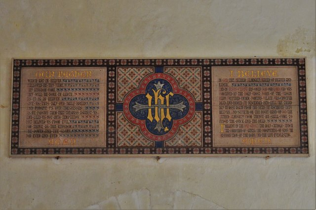 Seething, St. Margaret and St. Remigius Church: Lord's Prayer and Apostles' Creed on west wall