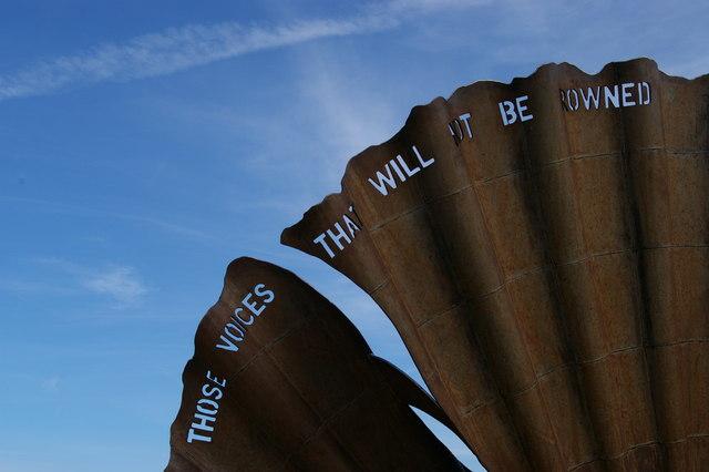 """""""The Scallop"""", Aldeburgh beach, detail"""