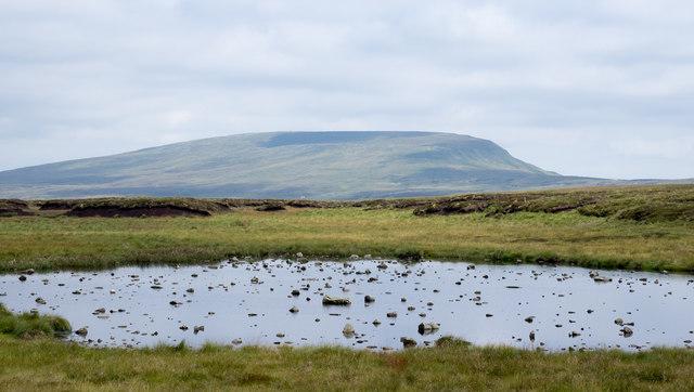 Shallow tarn on Murton Fell