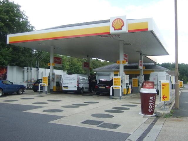 Service station on Epping Road (B1393)