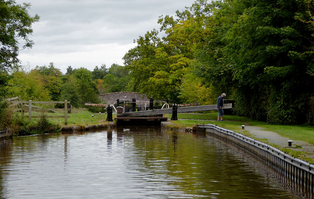 Swanley No 1 Lock near Burland in Cheshire