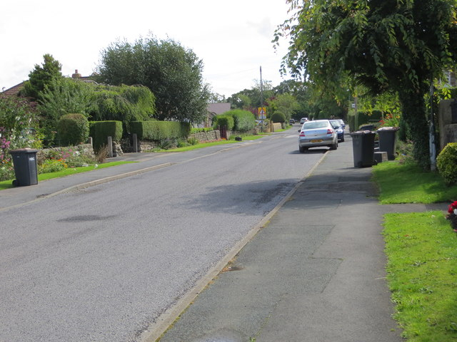 Refuse Collection Day in Hollins Lane, Hampsthwaite