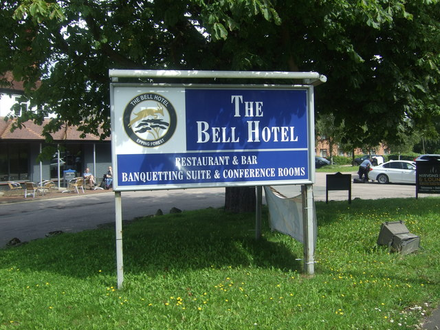 Sign for the Bell Hotel, Epping Forest