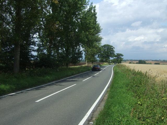 Bury Lane (B182) towards Epping Upland