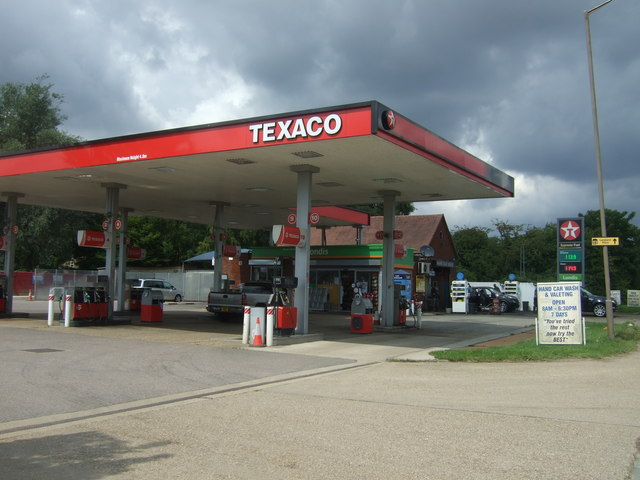 Service station on B1393, Thornwood Common