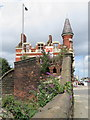 SJ3493 : Derelict Public Convenience and 'The Royal' by John S Turner