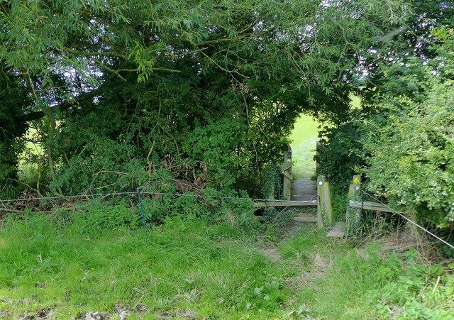 Midshires Way crossing the Golden Brook