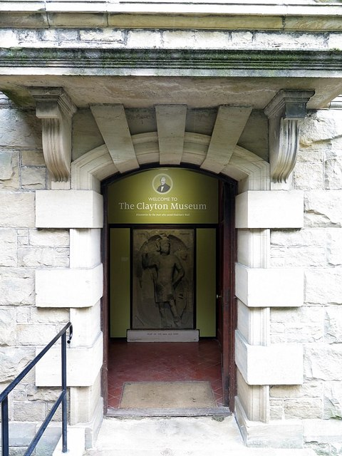 Doorway to The Clayton Museum, Chesters Roman Fort