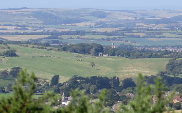 Freemantle Gate and Appuldurcombe Park from Wroxall Down