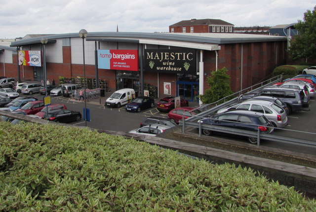 Home Bargains and Majestic Wine Warehouse in Worcester