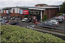 SO8555 : Home Bargains and Majestic Wine Warehouse in Worcester by Jaggery