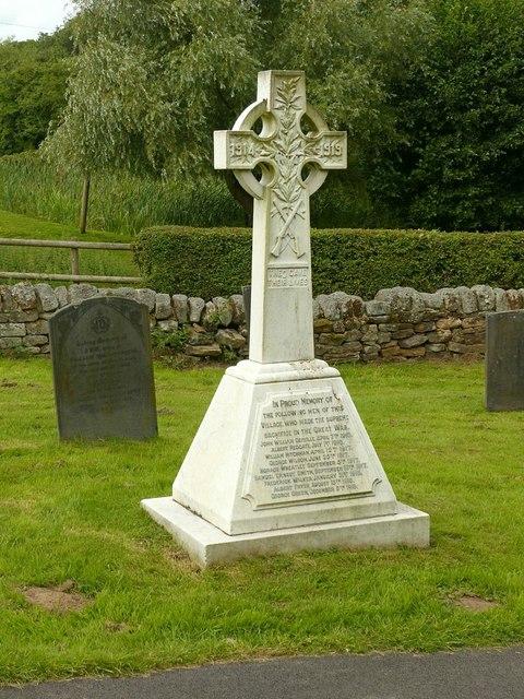 War Memorial, Dale Abbey