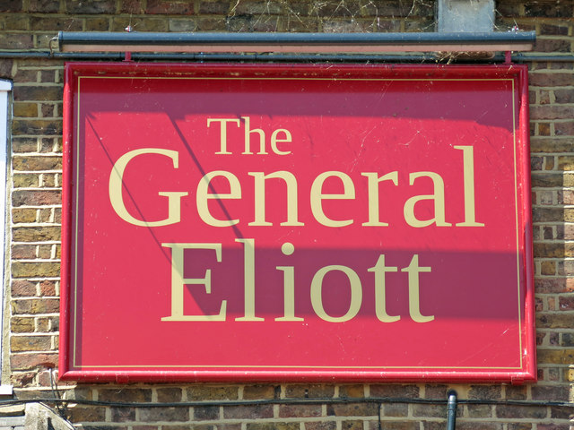 Sign on The General Eliott, by the Grand Union Canal
