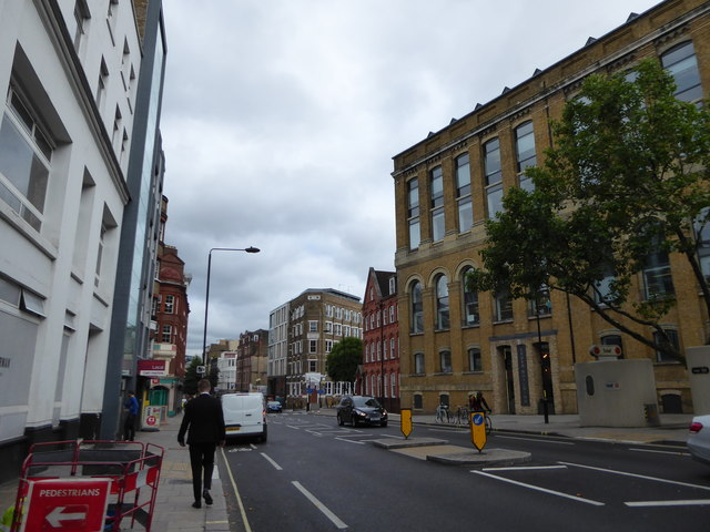 Looking eastwards in Clerkenwell Road