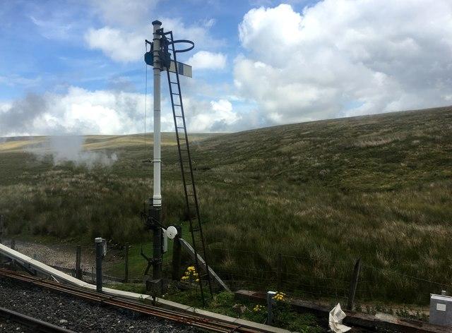 Semaphore signal at Bleamoor Sidings