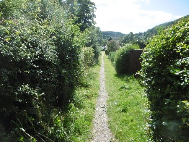 Glyn Ceiriog, footpath