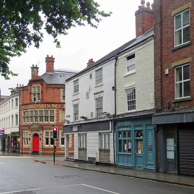 Derby: Friar Gate and Curzon Street corner