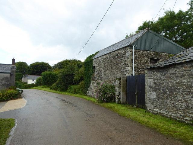 Old barn at Helland Barton