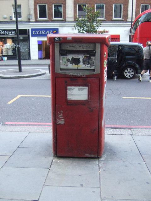 Royal mail business box on Bishopsgate, London E10