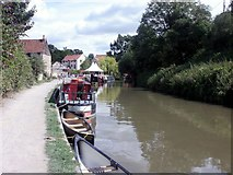 ST8260 : Bradford on Avon canal side boats by norman griffin