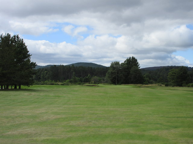 Ballater Golf Course, 1st hole, Birkhall