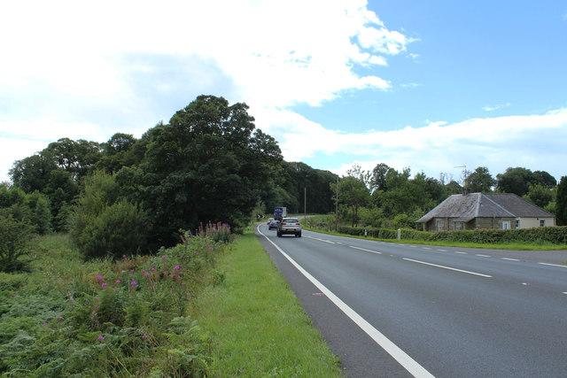 The A75 to Stranraer at Lanefoot Bridge
