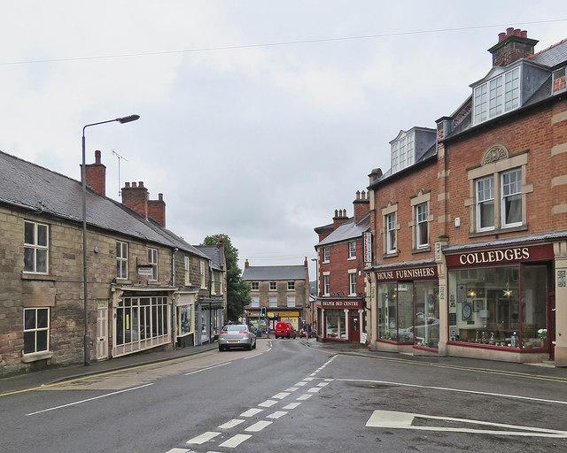 Belper: the corner of High Street and Church Street