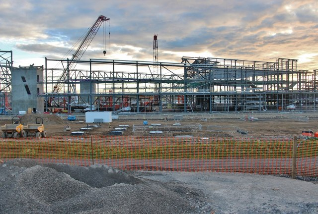 Steel frame for the new Exhibition Centre for Aberdeen