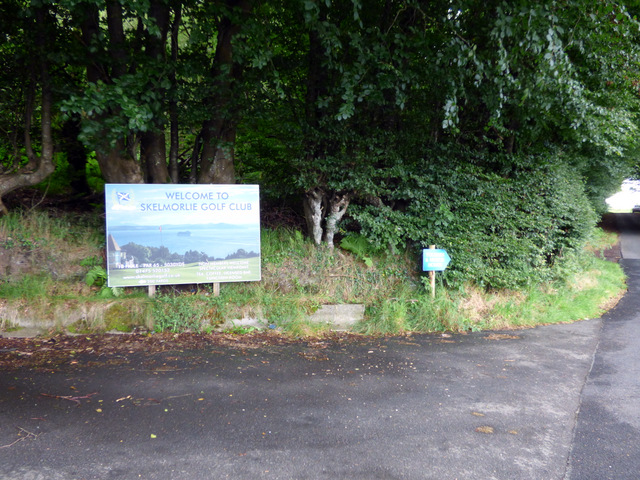 Sign at Skelmorlie Golf Club