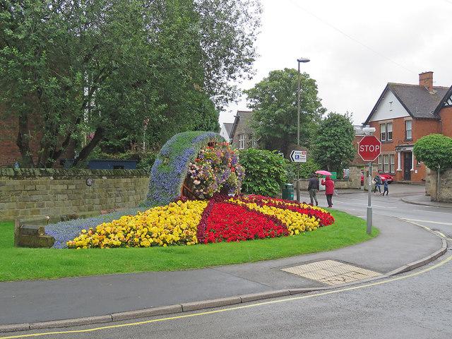 Belper: floral display