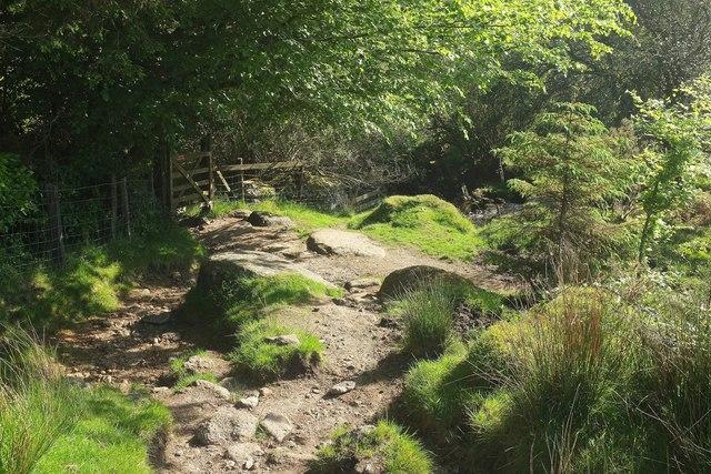 Leaving the open moor near Hartyland