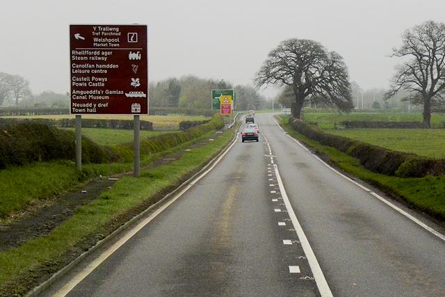 A483 near Coed-Y-Dinas