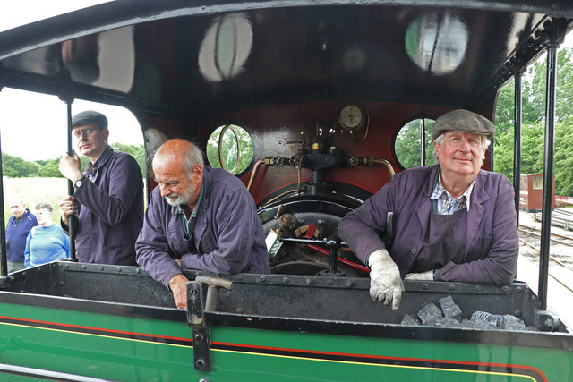 Statfold Barn Railway - footplate crew