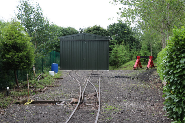 Statfold Barn Railway - new carriage shed