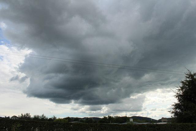 Black Cloud over Garden Wise, Dumfries