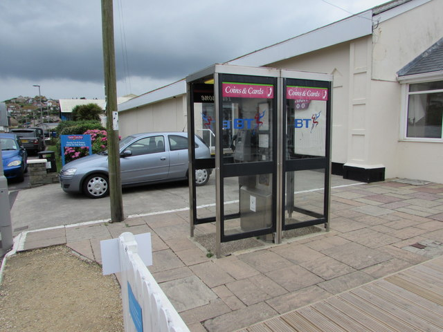 Two BT phoneboxes, West Bay
