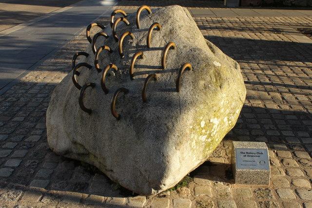 Charity Box in Stone, Stranraer