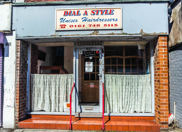 Dial A Style unisex hairdressers, Urmston, near Manchester