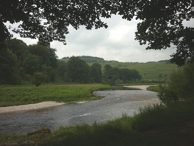 The Wharfe below Kirk Bank