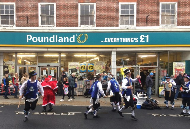 Morris dancers, Regent Street, Shanklin