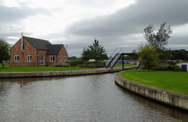 Entrance to Swanley Bridge Marina south of Burland, Cheshire