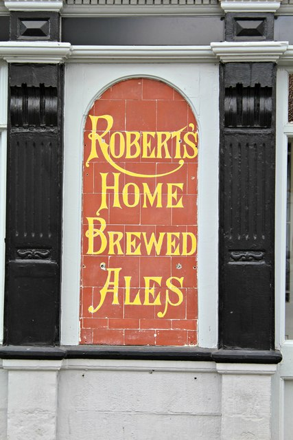 Sign on wall of the Corporation Arms, Ruthin