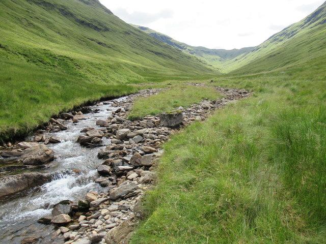 Looking upstream by Allt Coire Laoigh near Tyndrum