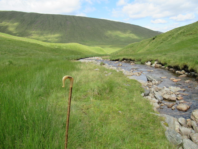 Looking downstream by Allt Coire Laoigh near Tyndrum